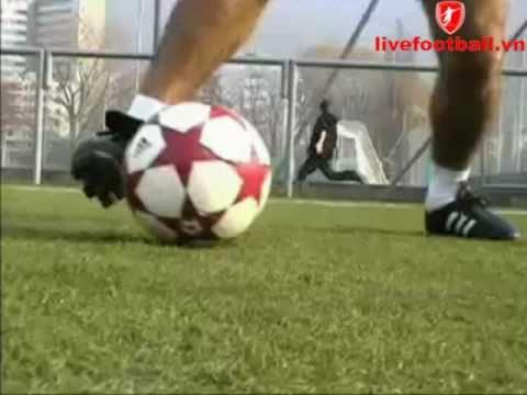 livefootball.vn-kỹ năng qua người: đảo bóng bằng má ngoài  má trong