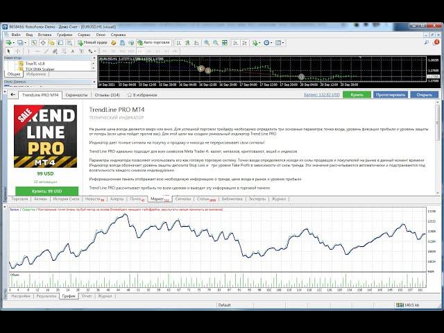 TrendLine PRO MT4 и UniversalEA