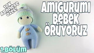(Amigurumi) Örgü Oyuncak Bebek Yapımı - Kol ve Bacak Yapılışı 1-4