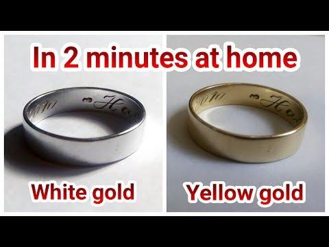 Whitening my yellow gold ring at home using mercury
