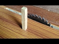 How to make a wooden dowel wooden product
