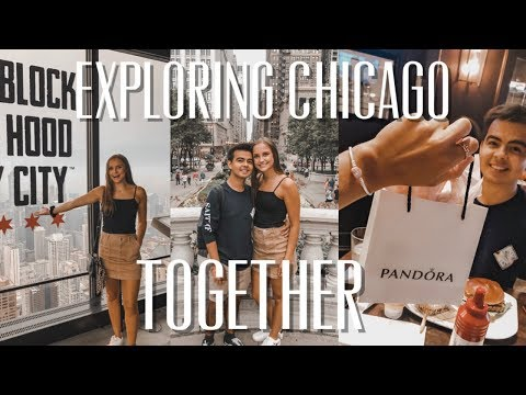 TRAVELING WITH MY LONG DISTANCE BOYFRIEND (Chicago vlog)   He surprised me!
