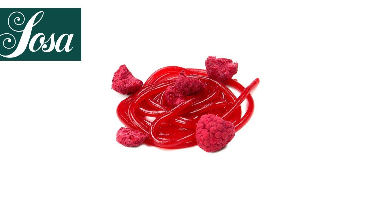 Espagueti de Fresa  Gelificante Vegetal  Texturizantes