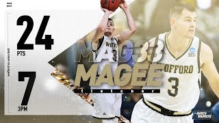 Wofford's Fletcher Magee drops 24 points in record-setting NCAA tournament performance