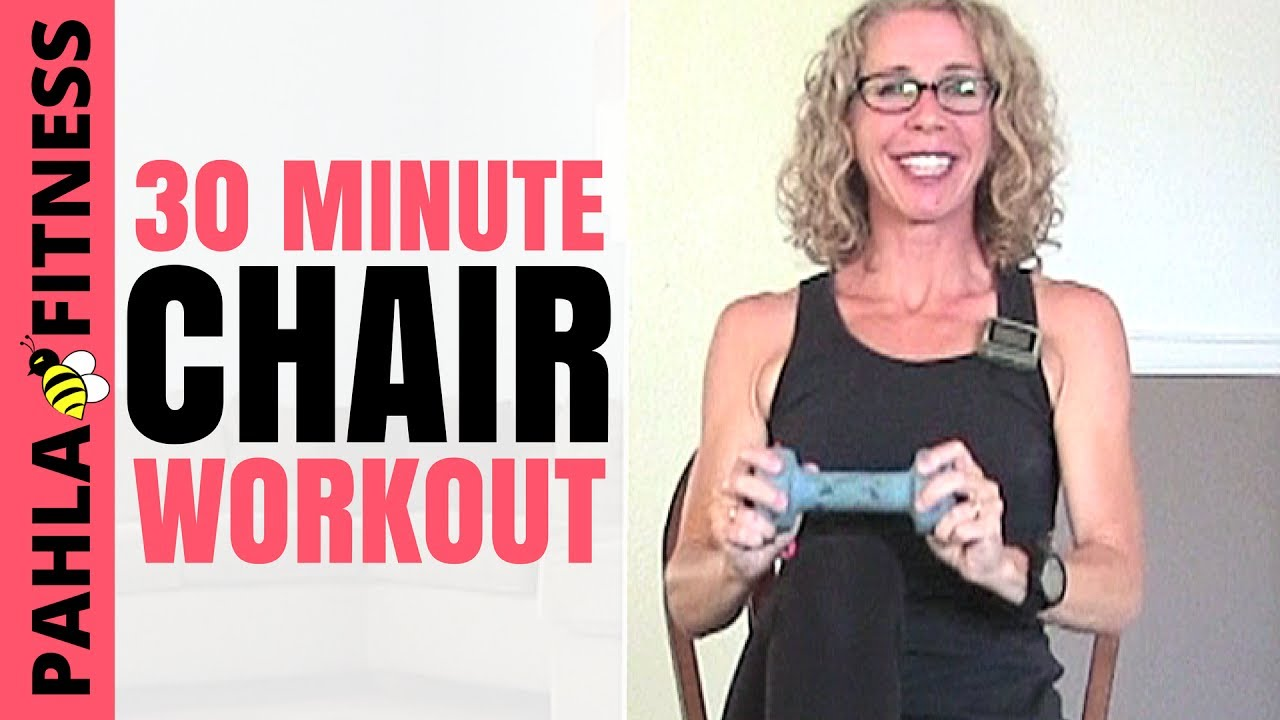 30 Minutes In Chair Exercises For Seniors Office Heavy Duty Minute Seated Workout Full Body Cardio Strength With Dumbbells