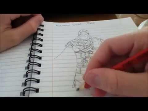 how to draw ezio easy