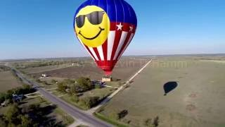 Drone Footage of Balloon in Texas that Crashed Killing 16