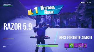 FORTNITE RAZOR 5.9 SEASON 9 BEST GAME 9 KILL BEST AIM ASSIST / ABUSE CRONUSMAX TITAN TWO