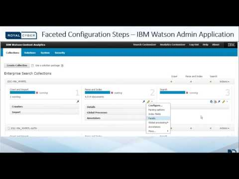 IBM Watson Analytics With Faceted Search For IBM Web Content Manager (WCM) Categories