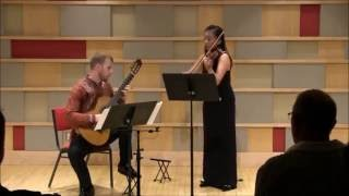 Nicolo Paganini - III - Rondeau, From Sonata Concertata op. 61. Carl Straussner and Sherri Zhang