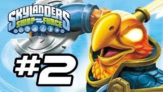 Skylanders Swap Force Gameplay Walkthrough - Part 2 - NEW BIRD SKYLANDER! (Skylanders Gameplay HD)