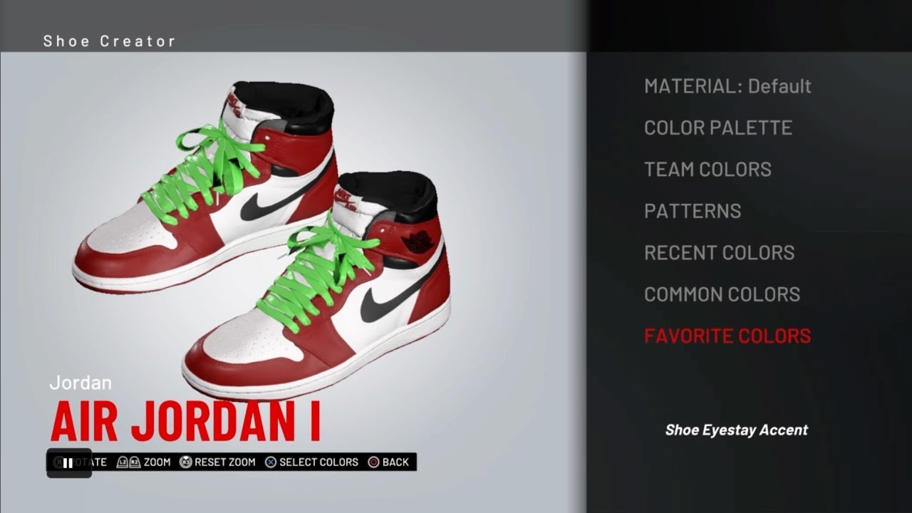 "249c0bf47eb108 NBA 2k19 Shoe Creator - Air Jordan 1 "" Off White"" (HEAT) - YouTube"