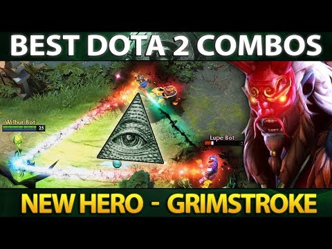 GRIMSTROKE NEW IMBA HERO? Best Combos with other Heroes - Dota 2 thumbnail