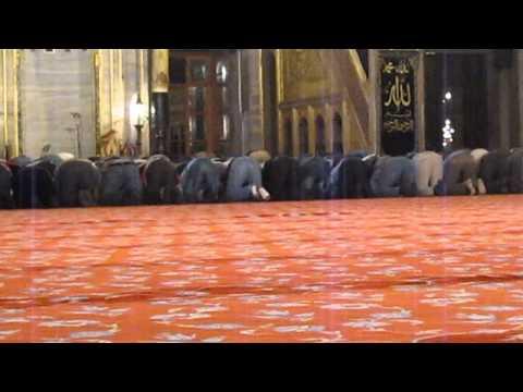 Prayers Inside The Blue Mosque: Istanbul, Turkey