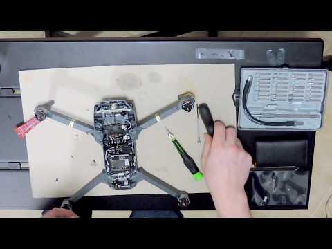 DJI Mavic Pro Drone Crash Broken Gimbal Flat Ribbon Cable PCB Repair How To fix failure &Replace DIY