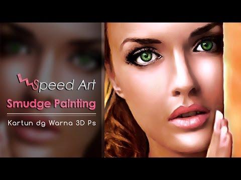 Speed Art] Smudge Painting Kartun Warna 3D - YouTube