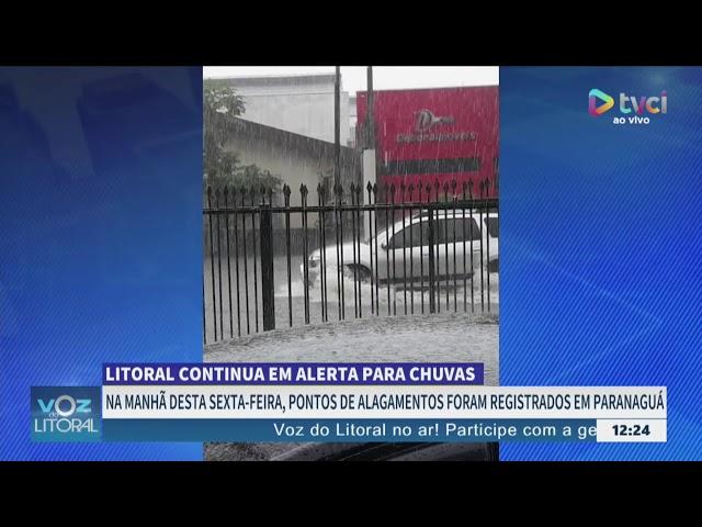 ALERTA PARA CHUVAS INTENSAS NO LITORAL