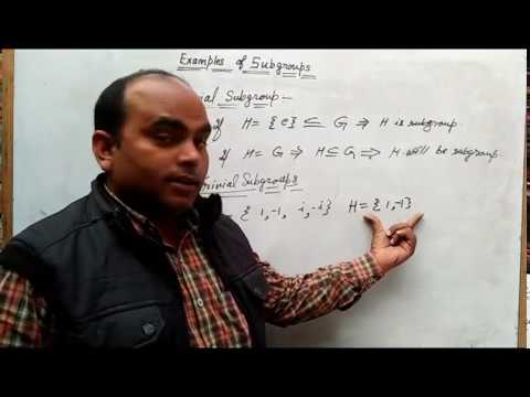 Group Theory -Subgroups definition Examples in hindi