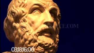 0655 Bust of Homer, blind bard (poet) of the Iliad and Odyssey (replica)