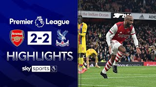Lacazette snatches LATE point on Vieira's return! | Arsenal 2-2 Crystal Palace | EPL Highlights