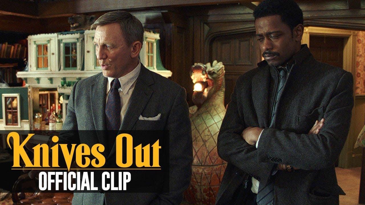 """Knives Out (2019 Movie) Official Clip """"Gentle Request"""" – Daniel Craig, Toni Collette"""