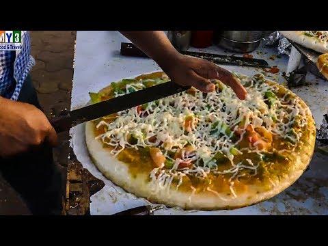 road side pizza making tawa pizza pizza making in tawa traditional pizza indian street food most popular videos