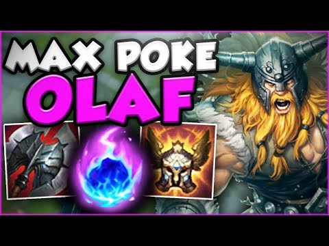 NEW MAX POKE OLAF IS ACTUALLY RIDICULOUS! NEW OLAF TOP SEASON 8 GAMEPLAY! - League Of Legends
