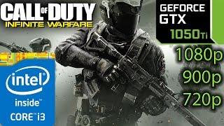 Call of Duty Infinite Warfare: GTX 1050 ti - i3 6100 - 1080p - 900p - 720p