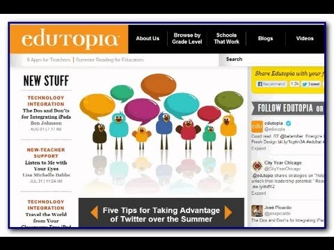 Video Tour of Edutopia: What Works in Education