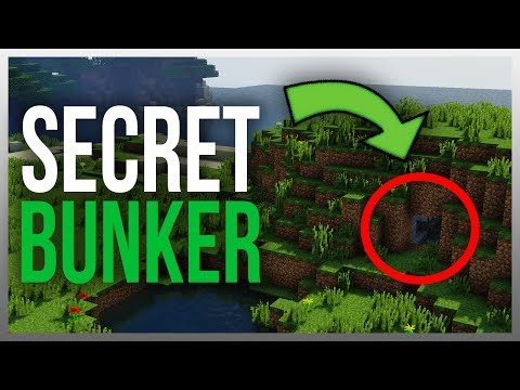 ✔️ Secret Underground Redstone Bunker in Minecraft