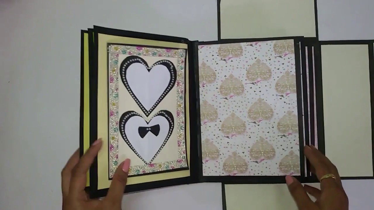Wedding Scrapbook Tutorial Gift For Wedding Anniversary Youtube