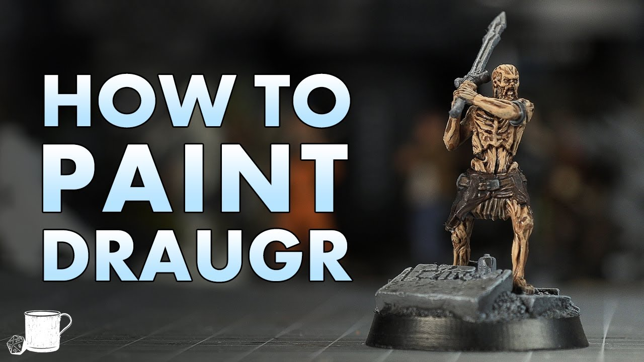 How to Paint Draugr From Elder Scrolls Call to Arms