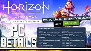 Horizon Zero Dawn PC Details Revealed - This Looks AWESOME