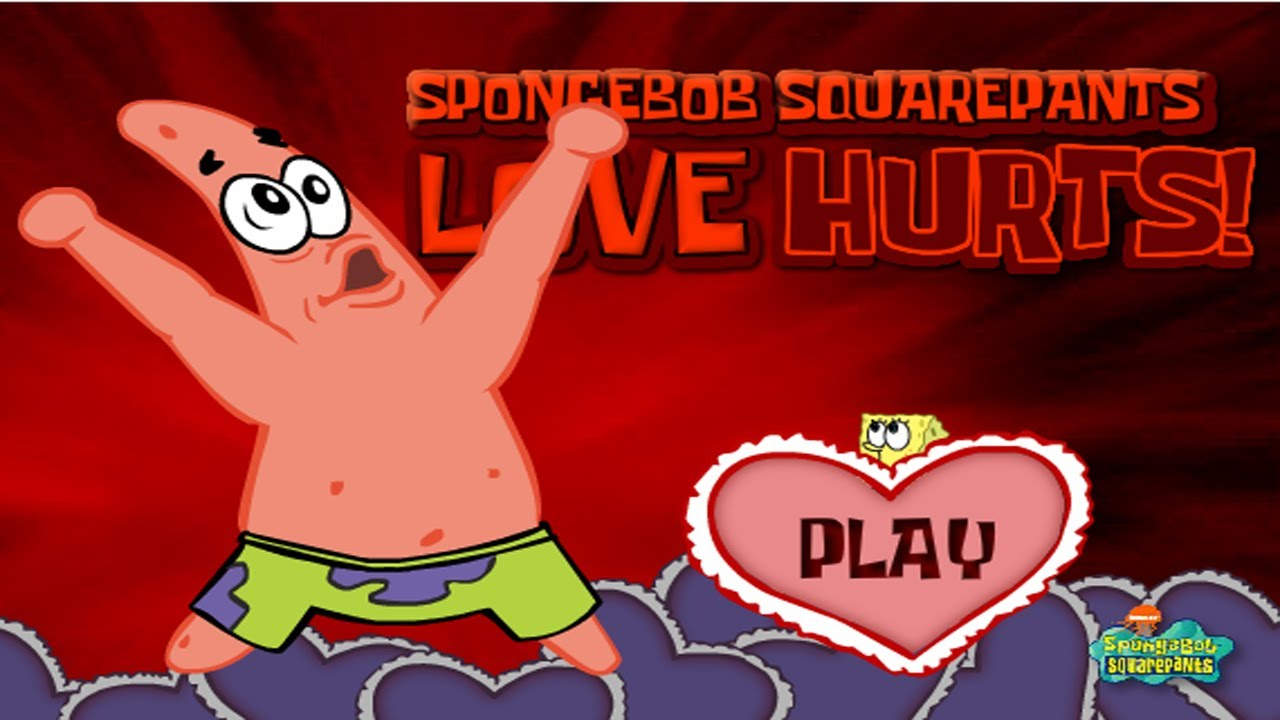 Spongebob Squarepants Valentines Day Game Movie   Love Hurts Starring Angry  Patrick!   YouTube