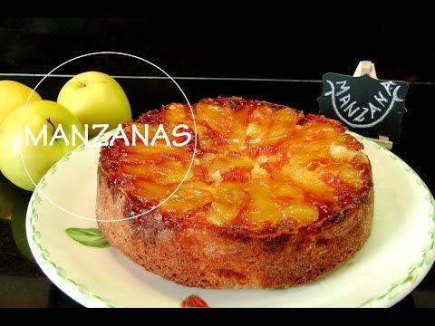 TORTA DE MANZANAS INVERTIDA muy FACIL   Torta di mele   Acqua Rosa Recetas