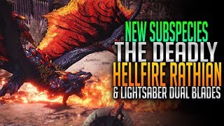 NEW Subspecies! Hellfire Rathian! Light Saber Dual Blades! Monster Hunter World PC Mods