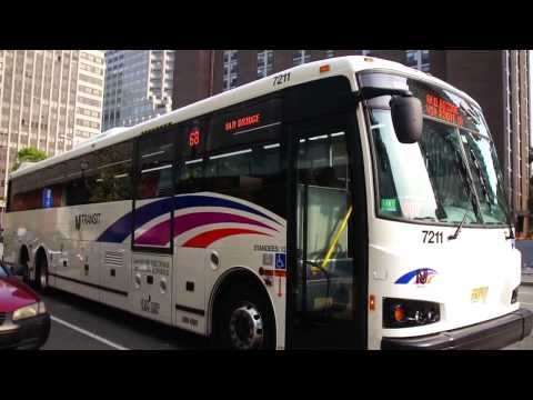 New Jersey Transit : Exchange Place Revisited With Designline ECOCoach CNGs [ 1, 64J, 68, 80 ]