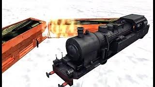 Burning Train Simulator Games - Level 7 Fail Funny Bug