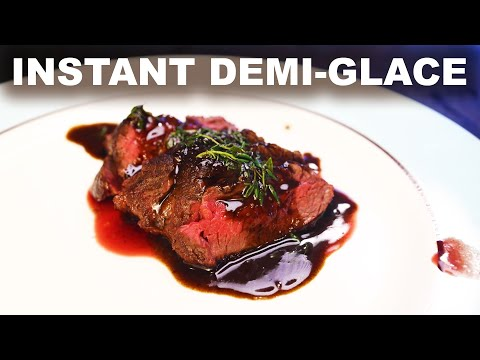 (Almost) instant demi-glace   store-bought stock and gelatin