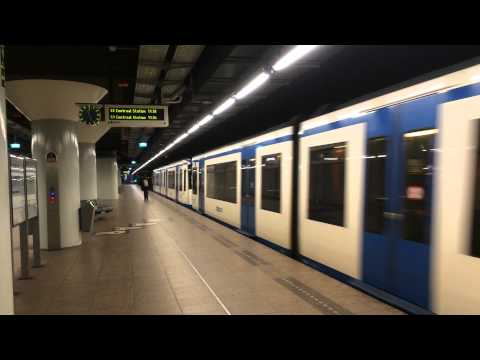 【オランダ】 アムステルダムのメトロ ニーウマルクト駅 Metro Of Amsterdam Nieuwmarkt Station (2014.4)