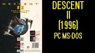 Descent 2 (1996) - DOS Gameplay (PC MS-DOS)