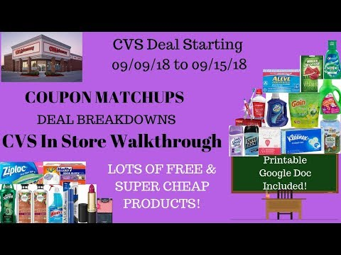 CVS IN-STORE COUPONING DEALS 9/9 -...