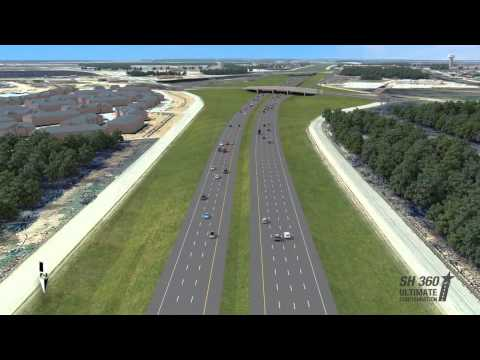 Visualization of proposed SH 360 toll road