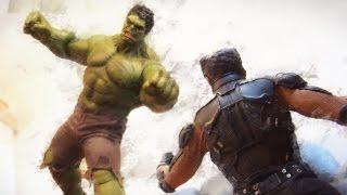 Hulk VS Wolverine Stop Motion