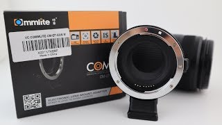 Commlite CM-EF-EOS M Lens Adapter Unboxing & Review. Best cheap Canon m50 Accessory.