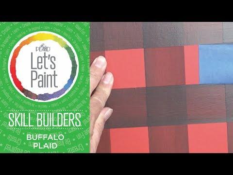 Let's Paint - Skill Builder - Buffalo Plaid