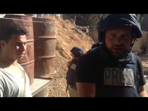 Video evidence of participation of Russian journalists in syrian war.