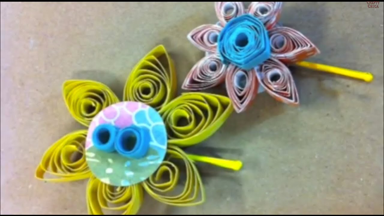 ... KAYTE TERRY: DIY Quilled Paper Hair Pins || DIY Project - YouTube
