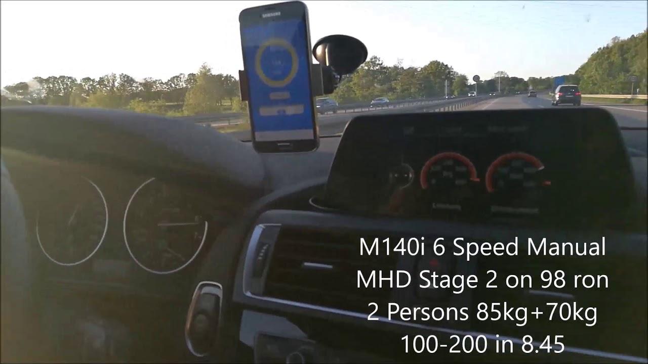 BMW M140i MHD Stage 2 98ron Flash Tune 100-200