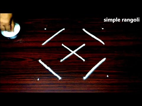 4 to 4 dots muggulu designs    simple rangoli designs with dots    easy small dots kolam designs
